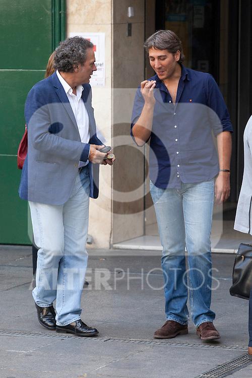 Actors Jose Coronado and Alberto Ammann present the film 'Betibu' at Cinema Princesa in Madrid. September 09, 2014. (ALTERPHOTOS / Nacho Lopez)