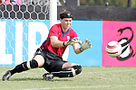 23 October 2005: US Women's National Team goalkeeper Jenni Branam, pregame. The United States Women's National Team defeated Mexico 3-0 at Blackbaud Stadium in Charleston, South Carolina in an International Friendly soccer match.