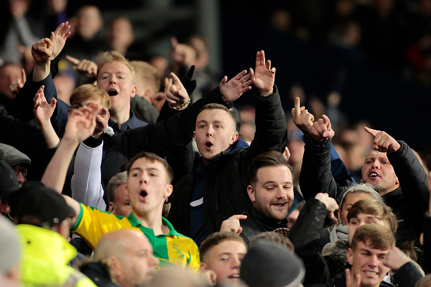 West Bromwich Albion fans taunt the Leeds United faithful<br /> <br /> Photographer David Shipman/CameraSport<br /> <br /> The EFL Sky Bet Championship - West Bromwich Albion v Leeds United - Saturday 10th November 2018 - The Hawthorns - West Bromwich<br /> <br /> World Copyright © 2018 CameraSport. All rights reserved. 43 Linden Ave. Countesthorpe. Leicester. England. LE8 5PG - Tel: +44 (0) 116 277 4147 - admin@camerasport.com - www.camerasport.com