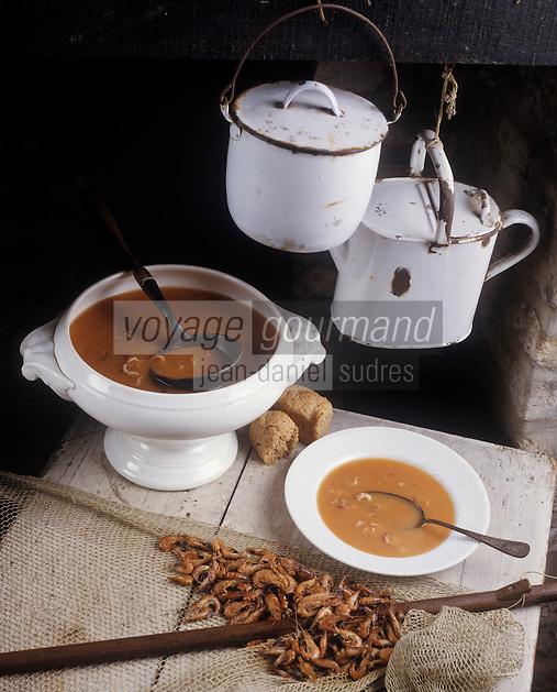 """Europe/Belgique/Flandre/Flandre Occidentale/Oostduinkerke : Bisque de crevettes à l'ancienne au restaurant """"La Bécassine"""""""