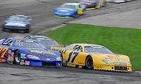 Matt Kenseth (17) holds the lead in Tuesday night's All-Star Challenge at Madison International Speedway in Oregon, Wisconsin on June 30, 2009
