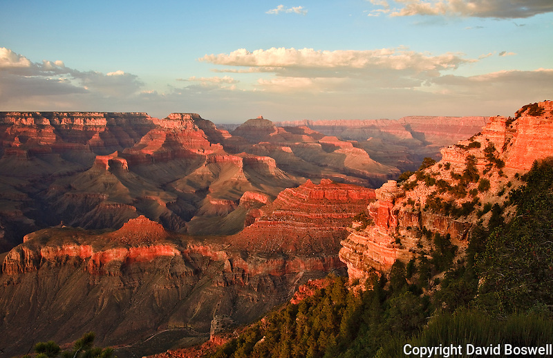 The Grand Canyon in the setting sun, taken from Yaki Point on the South Rim of the Grand Canyon