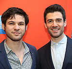 """Etai Benson and Adam Kantor attending the Broadway Opening Night Performance of  """"Lobby Hero"""" at The Hayes Theatre on March 26, 2018 in New York City."""