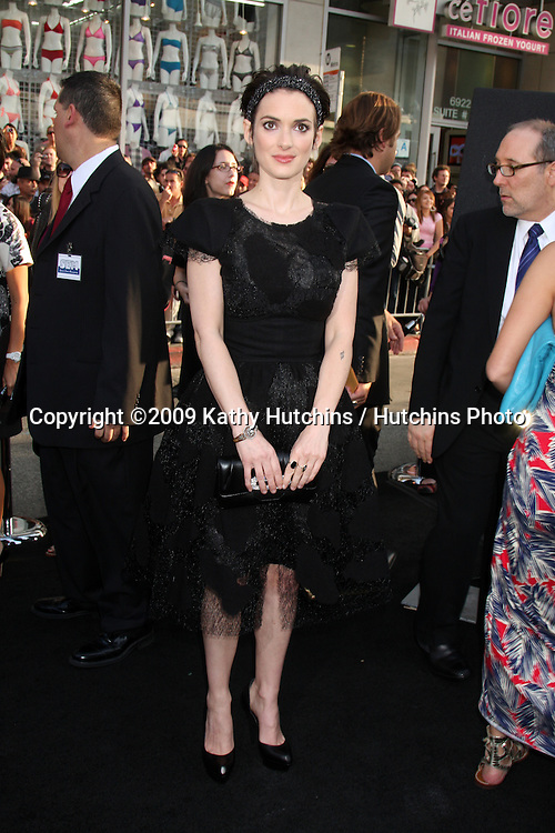 "Winona Ryder arriving at the ""Star Trek"" Premiere at Grauman's Chinese Theater in Los Angeles, CA on April 30, 2009.©2009 Kathy Hutchins / Hutchins Photo....                ."