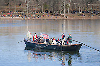Revolutionary War Reenactors, George Washington & the Continental Army crossing the Delaware River on Christmas Day, Washington Crossing State Park, New Jersey