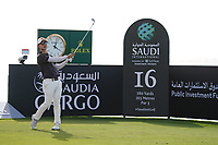 Jazz Janewattananond (THA) on the 16th during Round 3 of the Saudi International at the Royal Greens Golf and Country Club, King Abdullah Economic City, Saudi Arabia. 01/02/2020<br /> Picture: Golffile | Thos Caffrey<br /> <br /> <br /> All photo usage must carry mandatory copyright credit (© Golffile | Thos Caffrey)