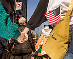 February 11, 2017. Raleigh, North Carolina.<br /> <br /> Supporters hold hands as they listen to Rev. Dr. William J. Barber close out the HKONJ People's Assembly with a fiery speech about standing up to power. <br /> <br /> Thousands gathered in downtown Raleigh for the annual HKONJ People's Assembly, a civil rights march tied to the Moral Monday movement. Supporters from around the state gathered to march and speak out against nationwide attacks on civil rights and the Trump administration.<br /> <br /> Jeremy M. Lange for The New York Times