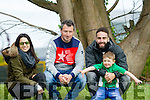 Derek Twiss Luke Twiss, and Evelyn Twiss with Dani Carvajal who plays with Real Madrid at the Senior County Football Championship Mid Kerry V Dingle at Killorglin GAA on Sunday