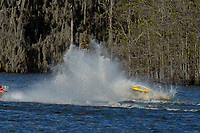 Frame 3: Serena Durr 96-F, Erin Pittman 6-H crash. (Outboard Hydroplanes)