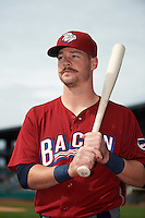 Lehigh Valley IronPigs designated hitter Andrew Knapp (15) poses for a photo before a game against the Columbus Clippers on May 12, 2016 at Huntington Park in Columbus, Ohio.  Lehigh Valley defeated Columbus 2-1.  (Mike Janes/Four Seam Images)