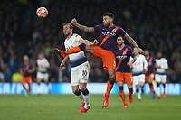 Tottenham Hotspur's Harry Kane and Manchester City's Nicolas Otamendi<br /> <br /> Photographer Rob Newell/CameraSport<br /> <br /> UEFA Champions League Quarter-finals 1st Leg - Tottenham Hotspur v Manchester City - Tuesday 9th April 2019 - White Hart Lane - London<br />  <br /> World Copyright © 2018 CameraSport. All rights reserved. 43 Linden Ave. Countesthorpe. Leicester. England. LE8 5PG - Tel: +44 (0) 116 277 4147 - admin@camerasport.com - www.camerasport.com