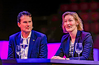 Rotterdam, Netherlands, December 15,  2017, Topsportcentrum,  Coaches Congress, Jacco Eltingh and Marjolein Notten<br /> Photo: Tennisimages/Henk Koster