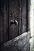 ancient wooden door with knocker<br /> <br /> alte Holzt&uuml;r mit Griff<br /> <br /> 565 x 378 px<br /> Original: 35 mm slide transparency