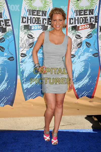 CARRIE KEAGAN.Teen Choice Awards 2010 - Arrivals held at Universal Studios Gibson Amphitheatre, Universal City, California, USA.August 8th, 2010.full length grey gray sleeveless dress hand on hip ruched .CAP/ADM/BP.©Byron Purvis/AdMedia/Capital Pictures.