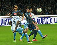 Jose Callejon durante l'incontro di ritorno della semifinale  Tim Cup tra     Napoli - Lazio allo  Stadio San Paolo  di Napoli ,08 Aprile  2015