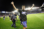 Deportivo Alaves' captain Manu Garcia celebrates the victory in the Spanish Kings Cup semifinal. February 08,2017. (ALTERPHOTOS/Acero)