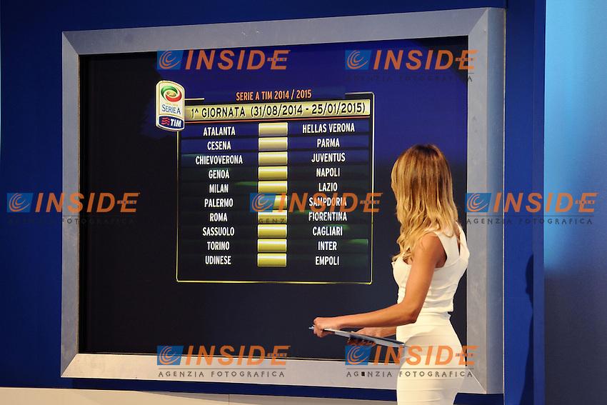 Milano 28/07/2014 - presentazione calendari serie A stagione 2014-2015 / foto Daniele Buffa/Image Sport/Insidefoto<br /> nella foto: prima giornata di campionato