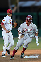 Tyler Gaffney of the Stanford Cardinal runs the bases against the USC Trojans at Dedeaux Field in Los Angeles,California on April 8, 2011. Photo by Larry Goren/Four Seam Images