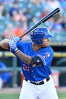 Round Rock left fielder Michael Choice (20) during a baseball game, Saturday May 02, 2015 in Round Rock, Tex. Express defeated Sounds 5-4. (Mo Khursheed/TFV Media via AP images)