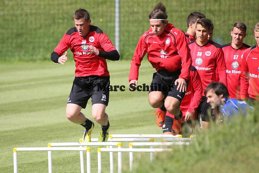 Alexander Madlung und ALex Meier - Eintracht Frankfurt Training, Commerzbank Arena