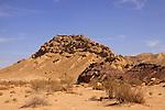 Israel, Negev desert, Mount Karbolet Haririm in Ramon crater.