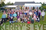 Mike and Angela Doherty, Knocknahoe, killarney pictured with their family and friends as they celebrated their 40th wedding anniversary at home on Saturday night. <br /> <br /> gifts for the kerry mountain rescue in all in aid for his ring of kerry cycle money ?700<br /> adopted she UK all over Kerry