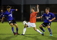 The number 24 ranked Furman Paladins took on the number 20 ranked Clemson Tigers in an inter-conference game at Clemson's Riggs Field.  Furman defeated Clemson 2-1.  Paul Clowes (6), Kevin Pahl (14), Tony Santibanez (2)