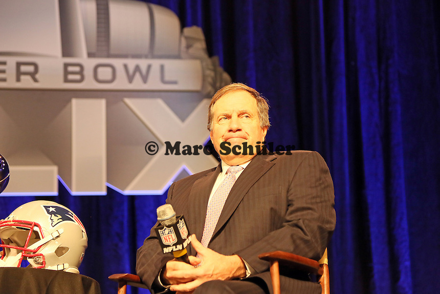 Head Coach Bill Belichick (Patriots) - Gemeinsame Team Pressekonferenz Super Bowl XLIX, Convention Center Phoenix