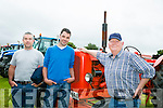 Enjoying the Abbeydorney Vintage rally on Sunday were l-r  Billy Quinlan, Dan Harmon and Patrick Riordan