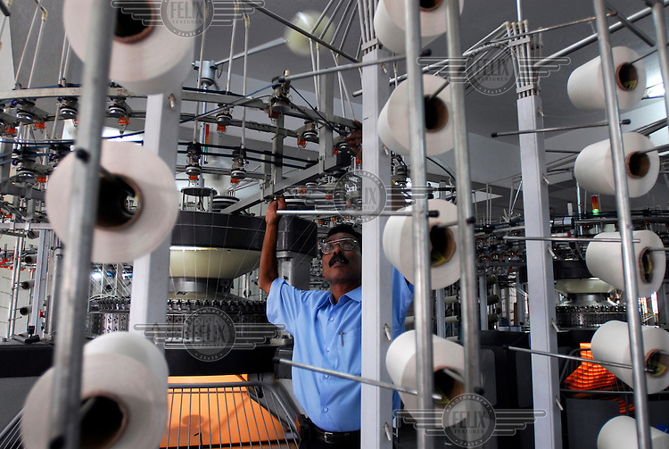 Workers at a textile factory in Tirupur. There are some 7,000 garment factories in the city, providing employment to close to one million people.