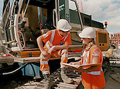 Civil Engineering student on work placement.