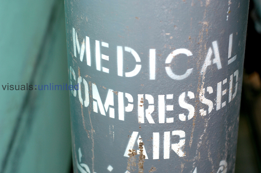 Medical compressed air (Oxygen). Royalty Free