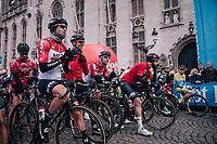 Team Lotto-Soudal at the race start in the Central Square in Bruges<br /> <br /> Driedaagse Brugge-De Panne 2018<br /> Bruges - De Panne (202km)