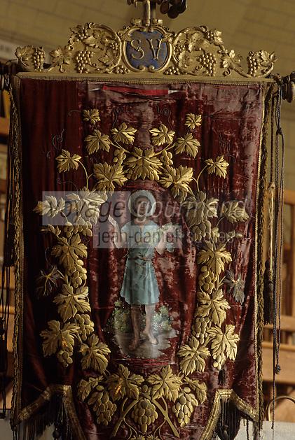 Europe/France/Pays de la Loire/44/Loire-Atlantique/Le Pallet : Musée du Muscadet P. Abelard - AOC Muscadet bannière Saint-Vincent