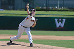 May 22, 2014; Stockton, CA, USA; Pepperdine Waves pitcher Corey Miller during the WCC Baseball Championship at Banner Island Ballpark.