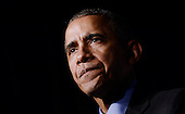 United States President Barack Obama makes remarks at the 22nd Annual Democratic National Committee Women's Leadership Forum, October 23, 2015 at the Grand Hyatt Washington Hotel in Washington, DC. <br /> Credit: Olivier Douliery / Pool via CNP
