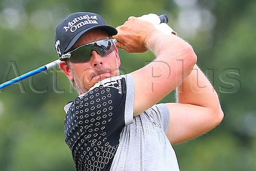 30.08.2015. Edison, NJ, USA.  Henrik Stenson tees off on the 2nd hole during the Final Round of The Barclays at Plainfield Country Club in Edison, NJ.