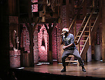 Nik Walker performing before the Gilder Lehman Institute of American History Education Matinee of 'Hamilton' at the Richard Rodgers  Theatre on December 15, 2016 in New York City.