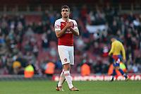 Sokratis Papastathopoulos of Arsenal after Arsenal vs Southampton, Premier League Football at the Emirates Stadium on 24th February 2019