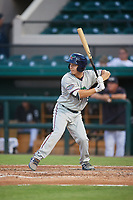 Fort Myers Miracle left fielder Ernie De La Trinidad (13) at bat during a game against the Lakeland Flying Tigers on August 7, 2018 at Publix Field at Joker Marchant Stadium in Lakeland, Florida.  Fort Myers defeated Lakeland 5-0.  (Mike Janes/Four Seam Images)