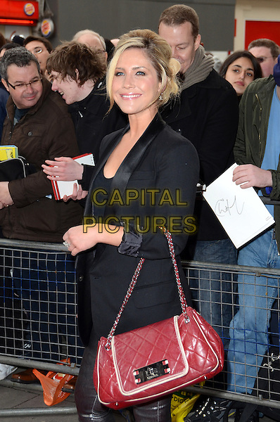 Heidi Range of Sugababes .'We Will Rock You' 10th Anniversary Performance at the Dominion Theatre, Tottenham Court Road, London, England..May 14th 2012.half length black blazer red bag purse .CAP/ROS.©Steve Ross/Capital Pictures
