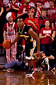 30 November 2011: Tony Chennault #1 of the Wake Forest Demon Deacons brings the ball down against the Nebraska Cornhuskers at the Devaney Sports Center in Lincoln, Nebraska. Wake Forest defeated Nebraska 55 to 53.