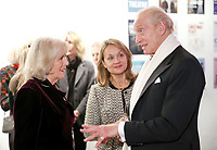 06 February 2019 - Camilla Duchess of Cornwall, Michele Badenoch and Charles Dance attend a reception to launch the Glorious Grandparents initiative at Unicorn Theatre in London. Photo Credit: ALPR/AdMedia
