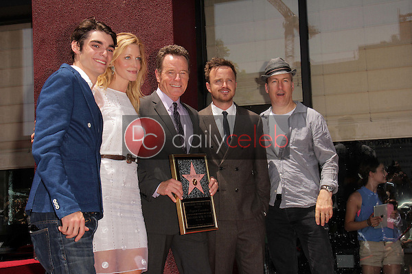 RJ Mitte, Anna Gunn, Bryan Cranston, Aaron Paul, Bob Odenkirk<br />