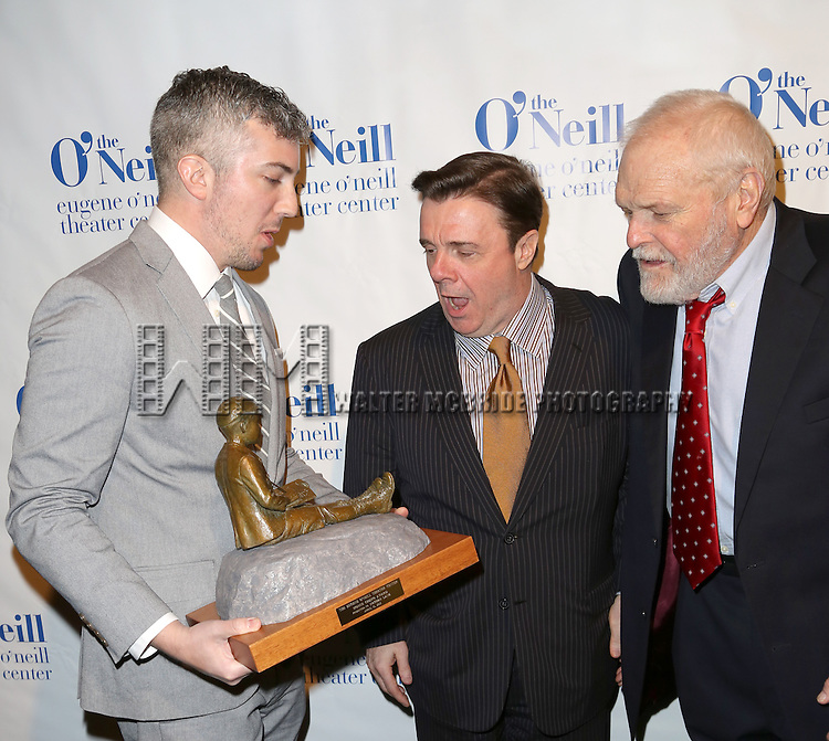 Executive Director Preston Whiteway, Nathan Lane and Brian Dennehy attend The Eugene O'Neill Theatre Center's 15th Annual Monte Cristo Award honoring Nathan Lane at The Edison Ballroom on April 13, 2015 in New York City.