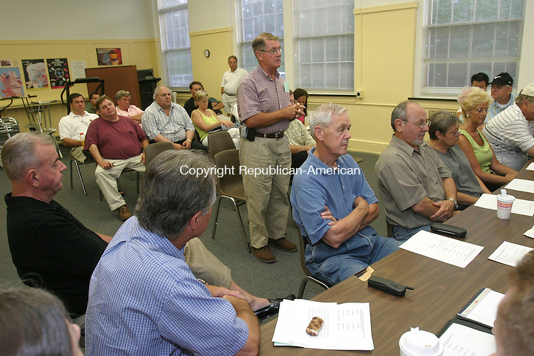 MIDDLEBURY, CT 19 July 2005 -071905BZ16- Middlebury First Selectman Ed St. John addresses the Middlebury Republican Town Committee after garnering their nomination for the upcoming election at the Shepardson Community Center Monday night.<br /> Jamison C. Bazinet Photo