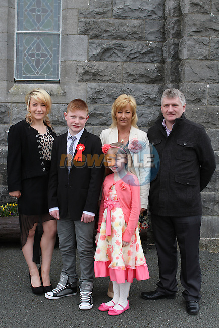 Ryan Carolan with his family at his Confirmation at Tullyallen Church...(Photo credit should read Jenny Matthews/NEWSFILE)...