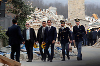 Il nuovo questore di Rieti Antonio Mannoni (terzo da dx)<br /> Amatrice 02/04/2017. Il Principe Carlo del Galles in visita nella zona terremotata di Amatrice<br /> Amatrice April 2nd 2017. Prince Charles of Wales visits Amatrice, hit by the earthquake of 24 August. <br /> Foto Samantha Zucchi Insidefoto