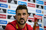 David Villa during the press conference of the spanish national football team in the city of football of Las Rozas in Madrid, Spain. August 28, 2017. (ALTERPHOTOS/Rodrigo Jimenez)