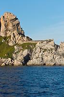 Europe/Provence-Alpes-Côte d'Azur/83/Var/Iles d'Hyères/Ile de Porquerolles: Le cap des Mèdes et le Fort et la batterie du cap des Mèdes